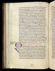 Decorated Initial And Quire Signature, In St. Jerome's Commentary On Jeremiah